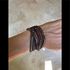 Nakamol faceted bead wrap bracelet